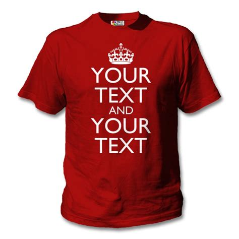 design a t shirt uk red keep calm t shirt classic design your own t shirts