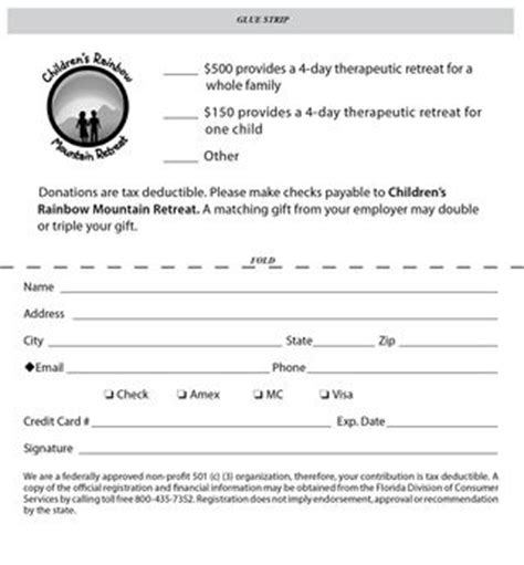 donation response card template nonprofit study my direct mail fundraising