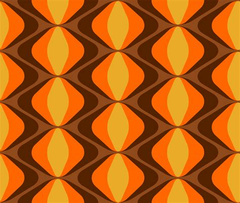 70er jahre retro stoff fummelhummel auf stoffn de bunt orange