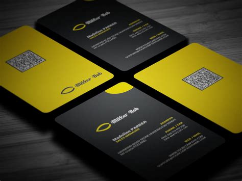 millers card template 22 stunning black business cards for your inspiration