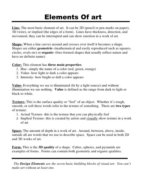 pattern definition art terms elements and principles of art and design