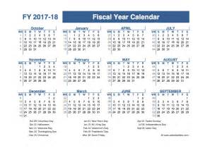 Fiscal Calendar Template by 2017 2018 Fiscal Planner Us Free Printable Templates