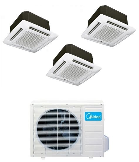 Ac Portable Midea midea dual zone 12k ceiling cassette mini split heat