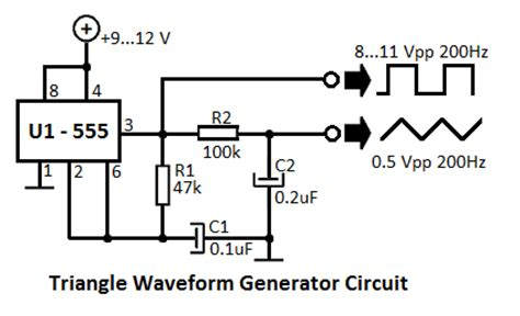 resistors triangle circuits does anyone here how to create a triangle wave generator on do circuits or just in general