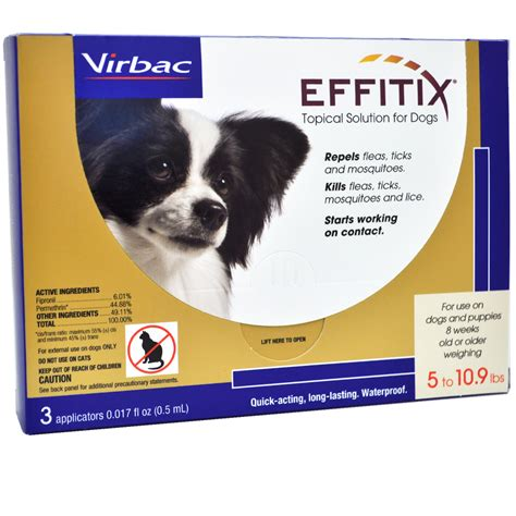 dogs 10 pounds effitix topical solution for dogs 5 10 9 lbs 3 months entirelypets