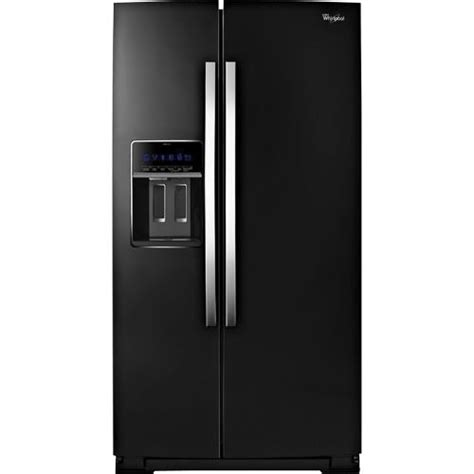 Whirlpool Cabinet Depth Refrigerator by Whirlpool Wrs970cide Bl 19 9 Cuft Black 2 Door Counter