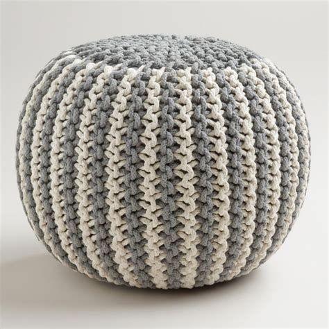 knitted poufs ottomans best 25 knitted pouf ideas on pinterest knitted pouffe