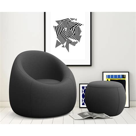OMO Modern Memory Foam Lounge Chair with Ottoman & Reviews