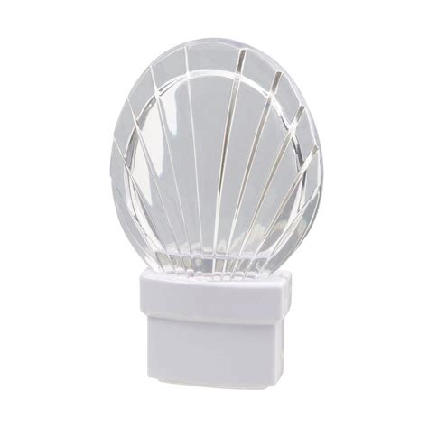 home depot night light amerelle seashell led night light 71076 the home depot