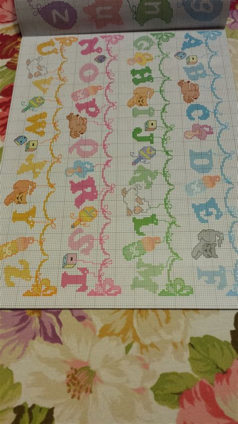 punto croce lettere per bambini schema alfabeto punto croce bambini libri schemi e