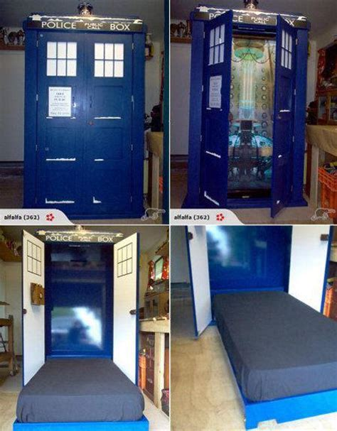 this tardis fold down bed is the bed of my dreams pics fantastic tardis fold out bed doctorwho
