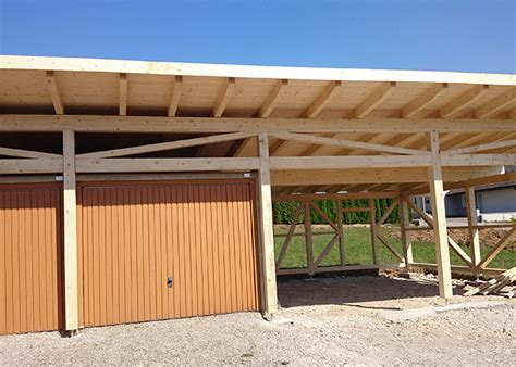 Garage Carport Holz by Holz Carport Nach Ma 223 Projektfotos Kunden