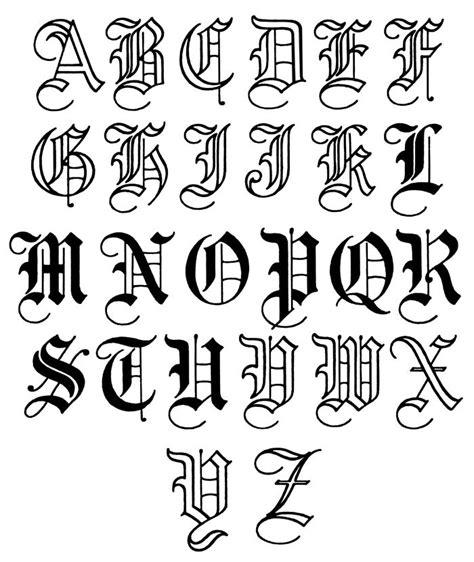 tattoo lettering fonts a z letter designs a z letters font
