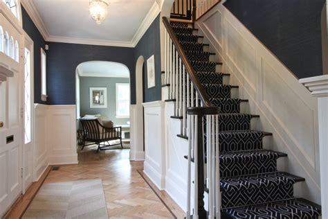 wainscoting stairs spaces craftsman with staircase