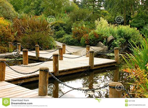 Small Home Decorating Blogs Dock On Garden Pond Royalty Free Stock Images Image 6311339