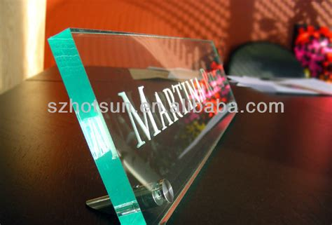 clear acrylic desk name plates bold design ideas glass desk name plates clear wall mount