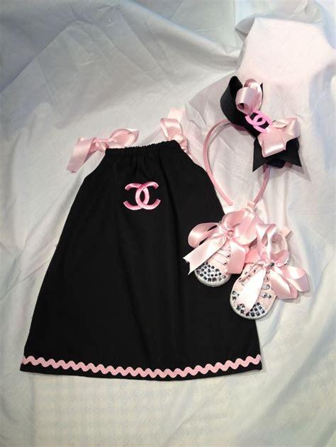 Chanel inspired baby girl gift set baby showers pinterest