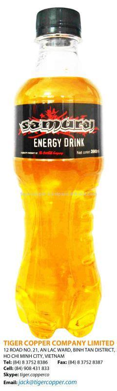 energy drink vitamins samurai vitamin energy drink bottle 390ml carbonated