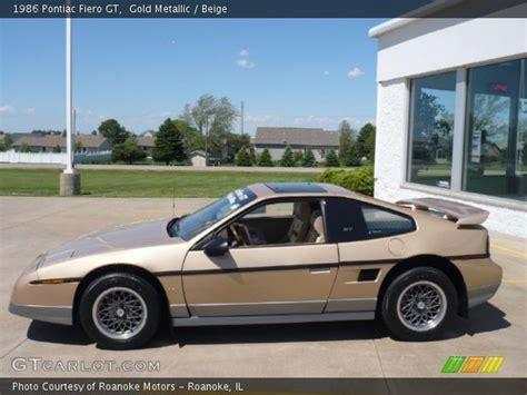 Pontiac Fiero Interior by Gold Metallic 1986 Pontiac Fiero Gt Beige Interior