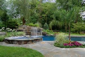 Backyard Pools Nj Swimming Pool Landscaping Ideas Bergen County Northern Nj