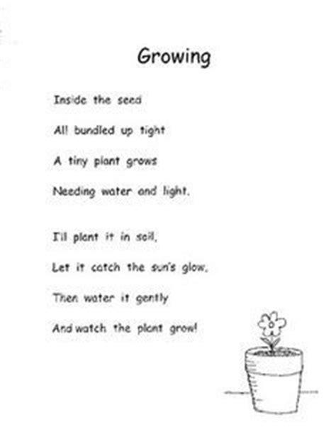 biology poems 8 best seed poem images on plants preschool