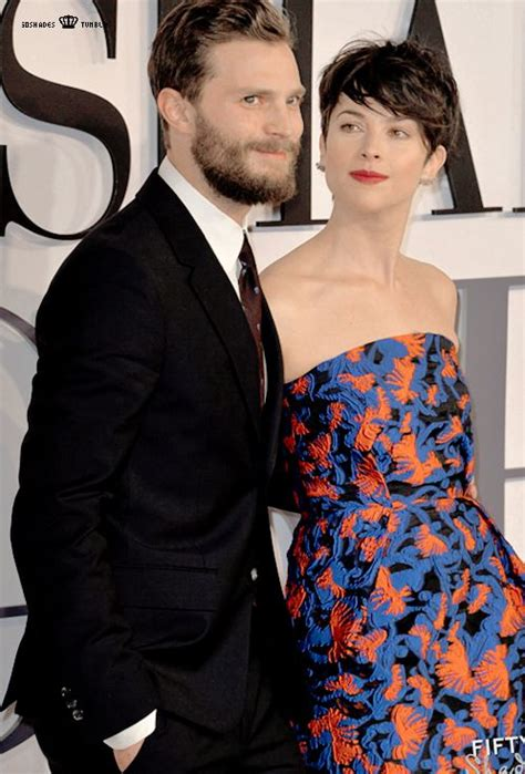 Temptation S Shade Of Grey and his amelia at the premiere fifty shades of