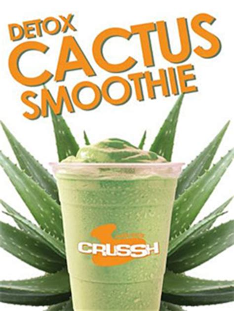 Detox Cactus Smoothie by Detox The Mexican Way With Crussh Cactus Juice