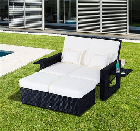 outdoor patio lounge daybed patio rattan wicker chaise lounge furniture set sofa