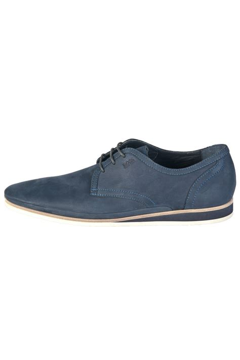 navy shoe hugo black smart casual shoes in navy blue eclio