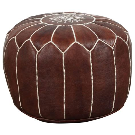 moroccan pouf ottoman sale moroccan brown leather pouf for sale at 1stdibs