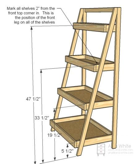 shelf ladder plans pdf woodworking