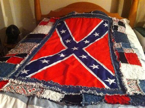 Confederate Flag Quilt by After Washing Rebel Flag Quilt Sewing Projects