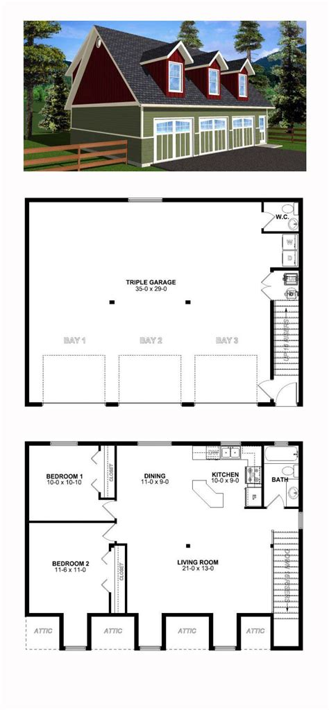 Two Room And Garage Plan by Two Bedroom Garage Apartment Plans Www Redglobalmx Org
