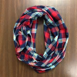 Flannel Infinity Scarf Flannel Infinity Scarf Make From Second Flannel Plaid