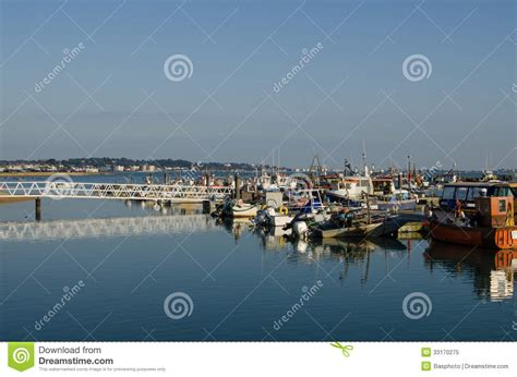 boat fishing in poole harbour moored boats poole harbour stock image image of moored