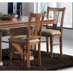 chaises salle 224 manger classique merisier assise moelleuse