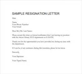 resignation template formal resignation letter 40 free documents in