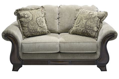 Vintage Loveseat Sleeper Sofa With Grey Fabric Color And Sleeper And Sofa