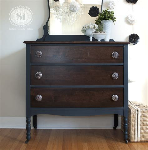painting a stained dresser black bluestone cottage vintage velvet dresser salvaged