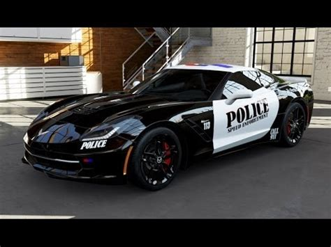 police corvette stingray forza motorsport 5 2014 corvette stingray police car
