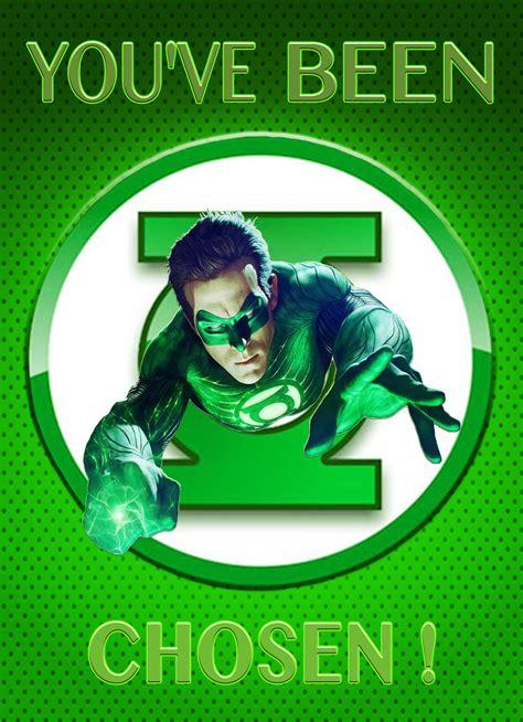 Green Lantern Gift Card - green lantern superhero personalized birthday invitation 2 sided birthday card party