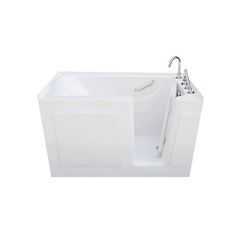 allure walk in tubs 5 ft right drain 5 ft rectangular right drain walk in non whirlpool tub in