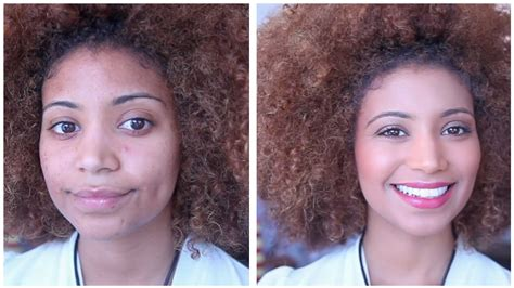 natural makeup tutorial mixed girl natural summer glow light skinned woc makeup tutorial