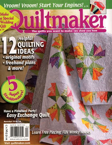 Digital Issue Of Quilting Marchapril 2005 quiltmaker march april 2009 digital edition