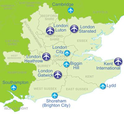 map uk airports stansted airport transfers