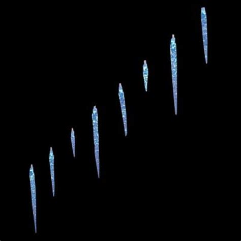 25 led twinkling icicle lights home accents 25 light led blue icicle lights with