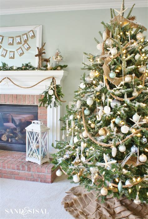 coastal christmas home tour part 1 sand and sisal