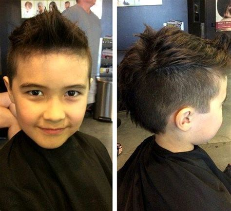 edgy boys 20 awesome and edgy mohawks for kids faux hawk