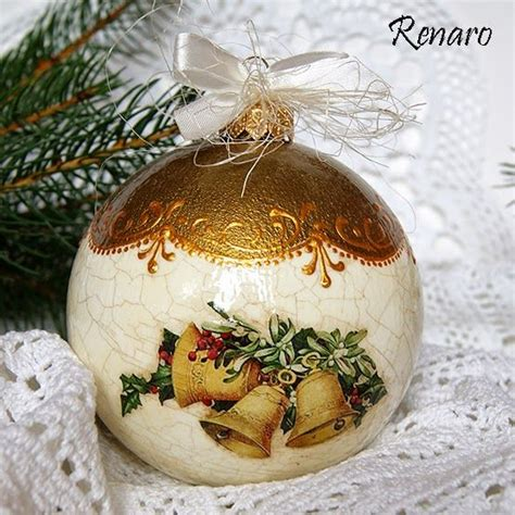 17 best images about decoupage christmas balls on