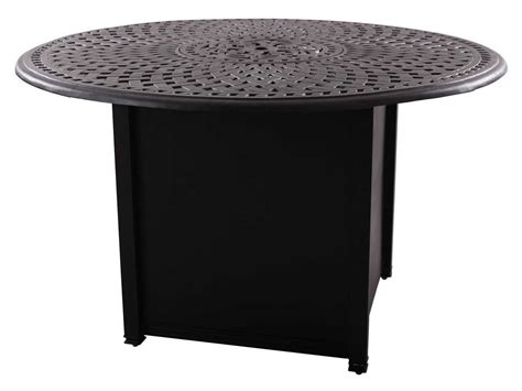 Propane Patio Table Darlee Outdoor Living Series 60 Cast Aluminum 60 Counter Height Propane Pit Table